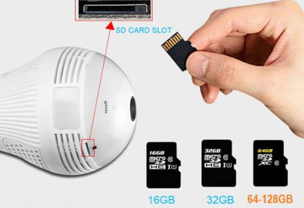 Lamp CCTV 2 - دوربین مداربسته لامپی با تکنولوژی دید در شب