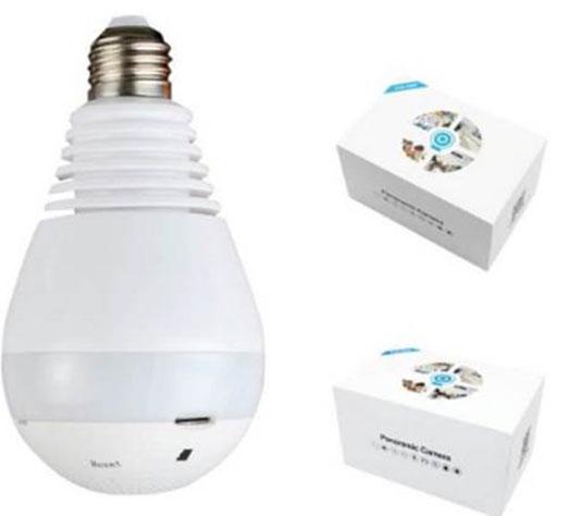 Lamp CCTV 4 - دوربین مداربسته لامپی با تکنولوژی دید در شب