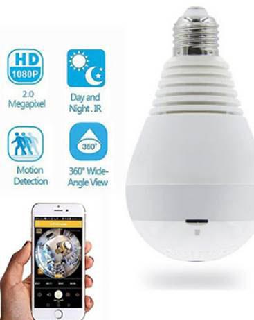 Lamp CCTV 5 - دوربین مداربسته لامپی با تکنولوژی دید در شب